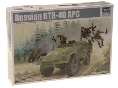Trumpeter 1/35 Russian BTR40 Armored Personnel Carrier Model Kit ()