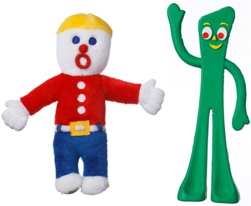 Multipet Mr. Bill and Gumby Licensed Retro Dog Toy Combo Pack, My Pet Supplies