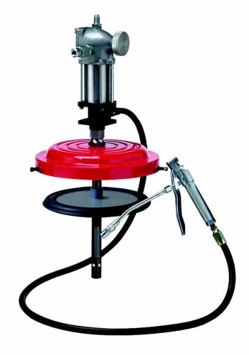 35lb (25-50lb) High Pressure Grease Pump Assembly; w/ rubber ringed follower plate ()
