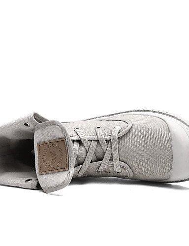 Eu36 bottes 5 décontracté Cn35 talon confort Gray toile 5 Gris us5 noir Xzz Uk3 Unisexe Similicuir Plat Fuchsia Jaune R4qZZz