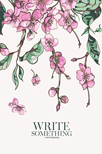 Notebook - Write something: Spring vintage floral bouquet with pink blooming branches of sakura trees and butterflies notebook, Daily Journal, ... College Ruled Paper, 6 x 9 inches (100sheets)