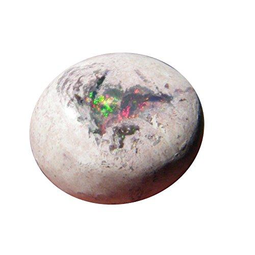 Mexican Fire Opal Cabochon, Rare Semiprecious Mexican Fire Opal Gemstone, 13x12x6mm Oval Shape A20K-941 941 Natural