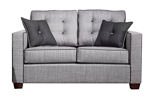 HOMES: Inside + Out ioHOMES Jaxsan Industrial Loveseat, Gray