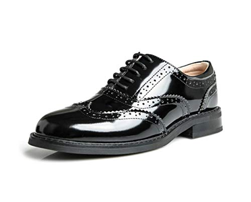 Piatto Pelle British Womens Shiney Da In College Stile Intagliate 2018 Tonde Scarpe Britannico Fondo Blackplusvelvet Studente avqxvn