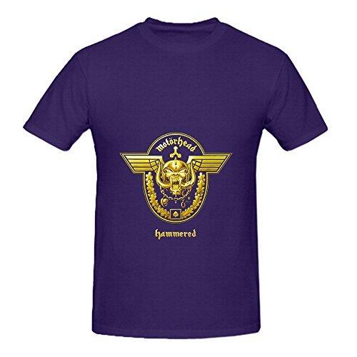 Motorhead Hammered Rock Mens Crew Neck Big Tall Shirts Purple