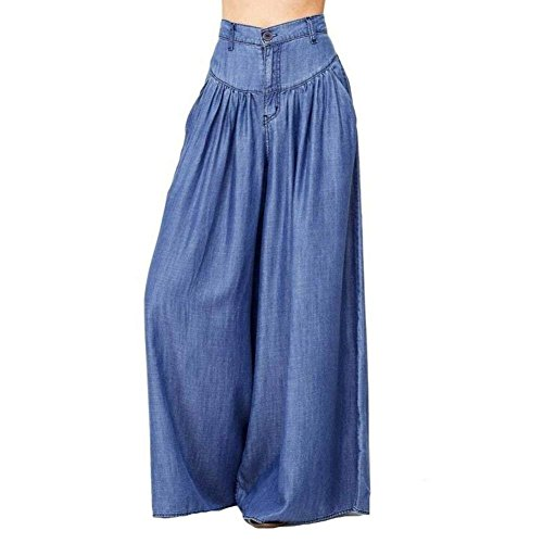 Femme Loisirs Hippie Dame Pants Uni Mode Aladin Battercake Wide Elégante Pantalon Casual Pantalons Taille De Blau Eté Leg Large Haute Manche Grande Sarouel AzwfOdqw