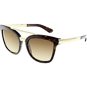 D&G Dolce & Gabbana Women's 0DG4269 Square Sunglasses, Havana/Brown, 54 mm