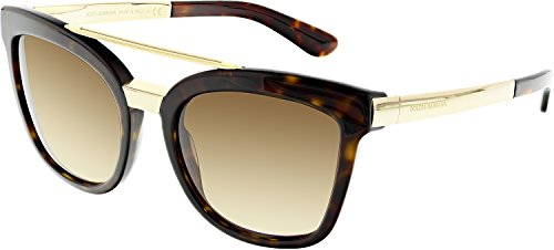 D&G Dolce & Gabbana Women's 0DG4269 Square Sunglasses, Havana/Brown, 54 - D G Sunglasses And Amazon