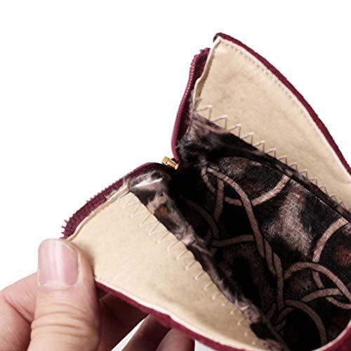 Hiver Bloc Oaleen Bottines Foncé Bordeaux Fourrées Chaussures Anneau Effet Femme Daim Vintage Talon Chelsea PUqUpA