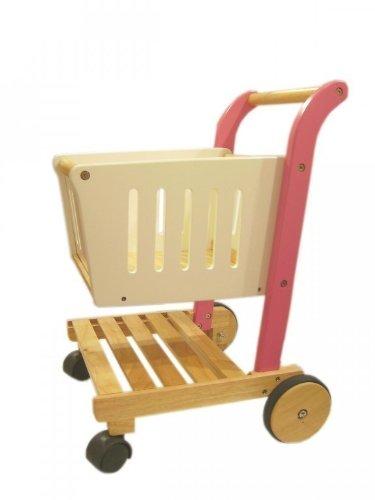 Kinder Einkaufswagen Holz - Estia Einkaufswagen Pink