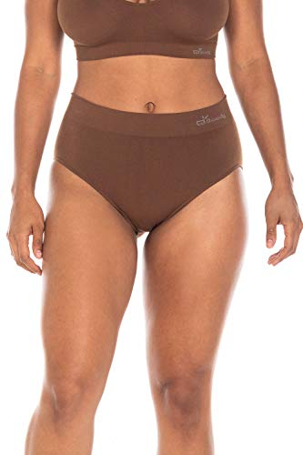 Boody Body EcoWear Women's Full Brief Seamless Underwear Made from Natural Organic Bamboo Viscose - Soft Breathable Eco Fashion for Sensitive Skin - Nude 6, Small