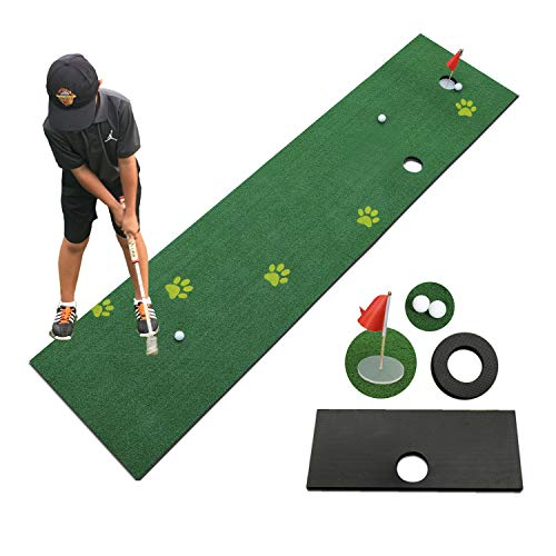 TIANNBU Golf Putting Mat Putting Green Synthetic Turf 2.4×12ft Artificial Grass Lawn for Home Office Backyard Indoor Outdoor