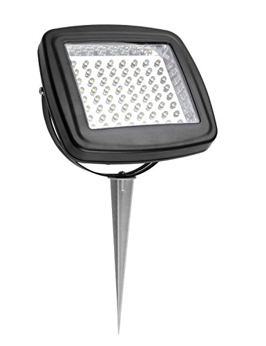 Solar flood light with battery : Microsolar warm white ct k lumen w angle adjustable solar panel lithium