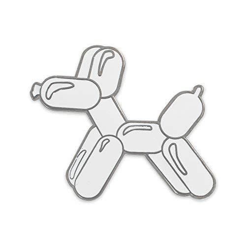 WIZARDPINS Balloon Animal Dog Hard Enamel Lapel Pins (- 1 White Pin)