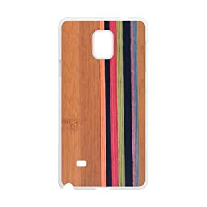 Canting_Good Simple Stripes Wood Custom Case Cover Shell for SamSung Galaxy Note4 (Laser Technology)