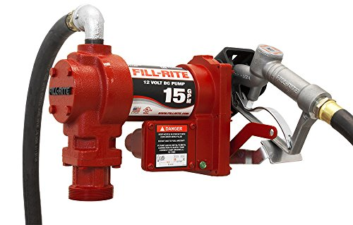 Fill-Rite FR1210G Fuel Transfer Pump, Telescoping Suction Pipe, 12' Delivery Hose, Manual Release Nozzle - 12 Volt, 15 GPM by Fill-Rite (Image #3)