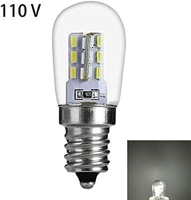 QLING Bombilla LED Inicio E12 Campana extractora Campana Cristal Restaurante Super Birght 220V Lámpara Cocina Ahorro energía Sala Lectura Luz Refrigerador(110VBlanco): Amazon.es: Hogar