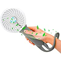 iFixandRepair Personal Mini Handheld Fan, Multi-function Portable Desk Fan, Rechargeable & Adjustable 3 Speeds for Home Office Desktop Outdoor Travel Camping Hiking (gray)