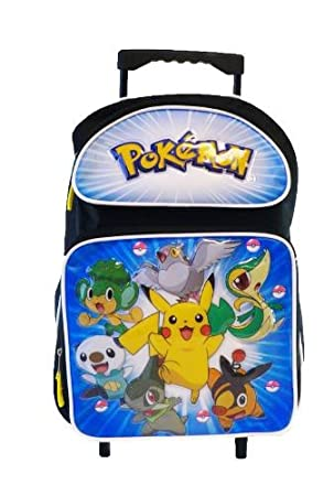 Pokemon Large Rolling BackPack - Pikachu and Friends Large Rolling ...