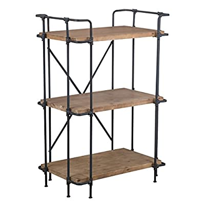 """Christopher Knight Home Cabinet, Brown - 27. 75""""L x 17. 50""""W x 40. 50""""H Three spacious shelves Wood and iron - living-room-furniture, living-room, bookcases-bookshelves - 413sB4H8n4L. SS400  -"""