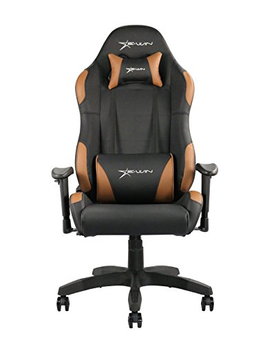 413sB8z0EgL - Ewin Chair Calling Series CLD Ergonomic Office Computer Gaming Chair with Pillows (Black/Brown)