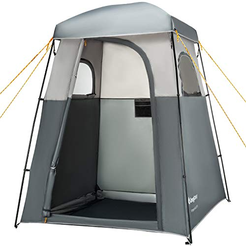 KingCamp Oversize Outdoor Easy Up Portable Dressing Changing Room Shower Privacy Shelter Tent, GRAY (Shower Floor Camping)