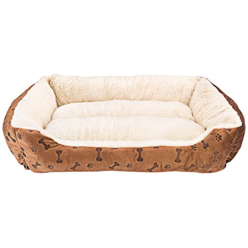 Rectangle Pet Bed with Dog Paw Printing (25