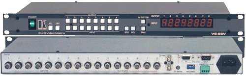Kramer Electronics VS-88V 8x8 Composite Video Matrix Switcher RS-232, RS-485