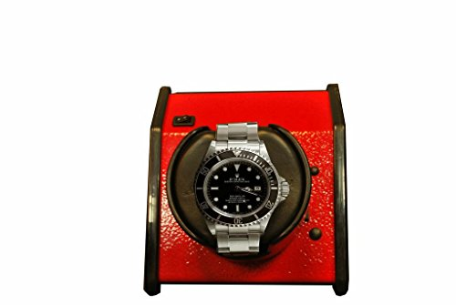 ORBITA Sparta Watch Winder in Vibrant Red, Made in the USA, Battery Operated