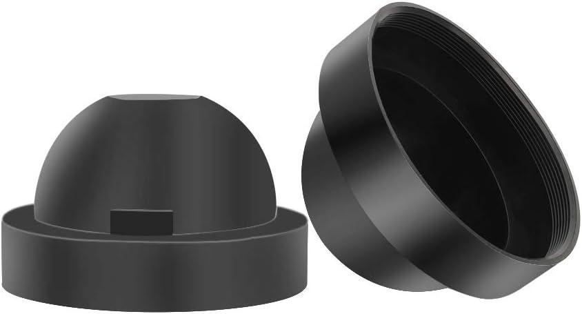 SENZEAL 83mm Scheinwerfer Kappen Staubschutz Gummidichtung Abdeckung f/ür HID LED Schwarz
