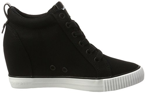 Damen Schwarz Klein Jeans High Top Calvin Blk Ritzy Canvas TvpRwnBn
