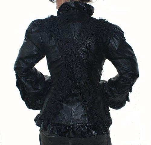 Modèle Noir Nappa Véritable Fabriqué En À Veste La Main Cuir S120 Erogance D'agneau Boléro P1OqOX