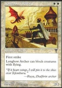 Magic: the Gathering - Longbow Archer - Visions - Longbow Vision
