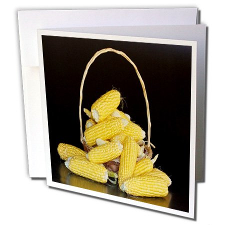 Florene Food And Beverage - Image of Closeup of Stacked Corn - 6 Greeting Cards with envelopes (gc_245214_1)