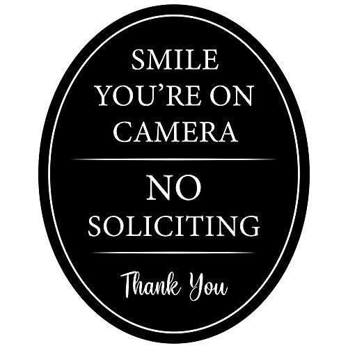 """2-in-1 Sign ~ 4""""x5"""" Aluminum Oval ~ Full adhesive sticker back~ Outdoor or indoor use ~ Smile You"""