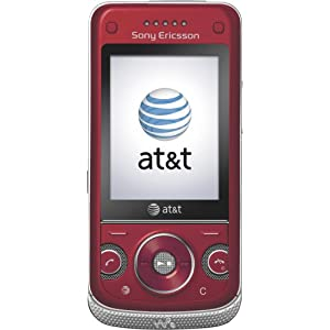 Sony Ericsson W760a Phone, Red (AT&T)