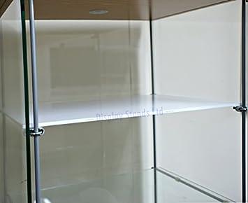 a Medida Extra Acrílico Estanterías & Abrazaderas Para Ikea DETOLF ARMARIO EN NEGRO Y BLANCO (