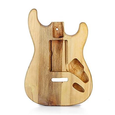 Taihang Repuesto de bricolaje con cuerpo de guitarra eléctrica de arce, pieza sin terminar para guitarra Fender ST Style: Amazon.es: Instrumentos musicales