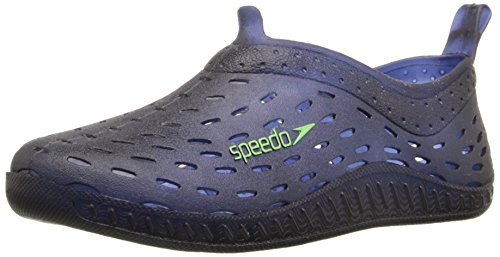 Speedo Exsqueeze Me Jelly Water Shoes (Toddler), Navy/Green, Medium (7/8 US Toddler) - Jelly Water Shoe