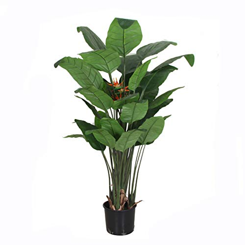 Topiary Bird (AMERIQUE Unique and Gorgeous Large 6' Bird of Paradise Flower, UV Protection, World-Class Design, Artificial Tree Plant, 6', Orange/Green)