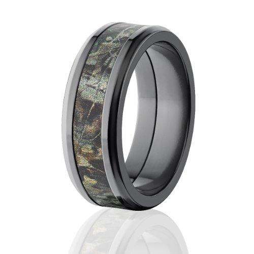 - 8mm Beveled Realtree Advantage Timber Camo Rings, Camo Wedding Bands