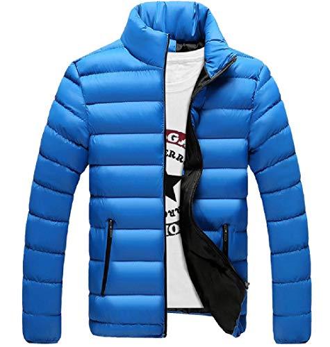 Thickening 3 Closure Textured Packable Men Quilted Zip RkBaoye Jacket xwX8FqIz
