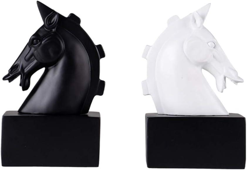 VOSAREA estatuilla Moderna Cabeza de Caballo Estatua Adornos de Escritorio para la decoración de la Oficina en casa