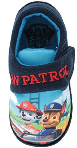 Paw Patrol Kubrick Slippers Navy Boys Kids Velcro UK Infant Sizes 5 to 10, Red-Navy, 23 EU