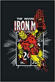 Marvel Invincible Iron Man Retro Comic Flight Poster: Notebook Planner -6x9 inch Daily Planner Journal, To Do List Notebook, Daily Organizer, 114 Pages