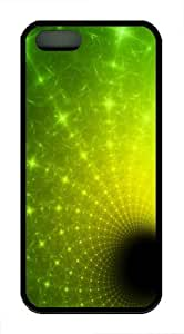 Green Vortex9 TPU Case Cover for iPhone 5 and iPhone 5s Black