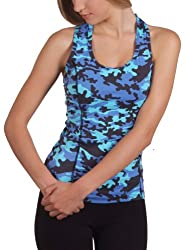 Margarita Blue Camo Top