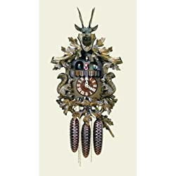Original Eight Day Movement Special Cuckoo Clock with Squirrel Design 20 Inch