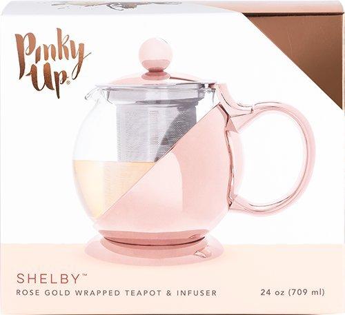 Pinky Up 5046/Shelby oro rosa avvolto e infusore multicolore