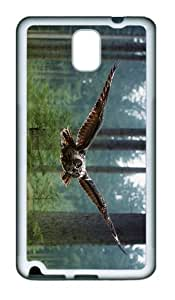 girly cover owl flying forest TPU White case/cover for samsung galaxy note 3 N9000